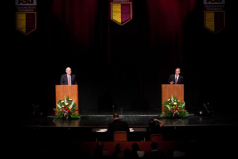 Karl Rove and Howard Dean Debate at Grady Gammage Memorial Auditorium