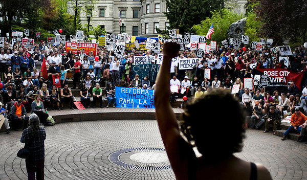 May Day Demonstration, Downtown Portland, 2009