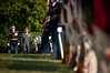 Japanese Ground Self-Defense Force Chief of Staff Gen. Eiji Kimizuka (middle) performs a ceremonial inspection of the troops Sept. 27, 2012, at Joint Base Myer-Henderson Hall, Va. Gen. Kimizuka received the Legion of Merit (Degree of Commander) from U.S. Army Chief of Staff Gen. Raymond T. Odierno for promoting family welfare through the development a Japan Ground Self-Defense Force family support structure.  (U.S. Army photo by Staff Sgt. Bernardo Fuller)