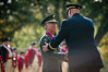 Japanese Ground Self-Defense Force Chief of Staff Gen. Eiji Kimizuka and U.S. Army Chief of Staff Gen. Raymond T. Odierno shake hands after Odierno awards him with the Legion of Merit (Degree of Commander), Sept. 27, 2012, at Joint Base Myer-Henderson Hall, Va.  Gen. Kimizuka received the award for promoting family welfare through the development a Japan Ground Self-Defense Force family support structure.  (U.S. Army photo by Staff Sgt. Bernardo Fuller)