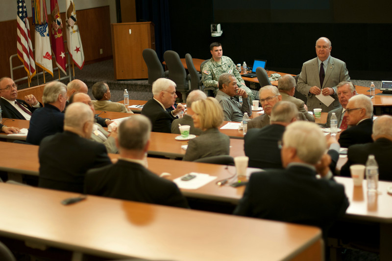 """Civilian Aides to the Secretary of the Army are critical in connecting our Army with the American public."" Under Secretary of the Army Joseph W. Westphal discusses the future of the Army with 36 Civilian Aides to the Secretary of the Army (CASAs) during the 2012 CASA Fall Conference, 25 Oct. 2012, Fort Belvoir, Va. (U.S. Army photos by Staff Sgt. Bernardo Fuller)"