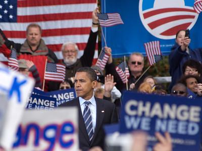 Barack Obama rally at Calder Plaza in Grand Rapids, MI 2nd October 2008
