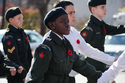 Remembrance Day Ceremony at the Kitchener Cenotaph