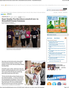 Super Sunday Fun Run draws crowd of 100+ to Broomfield County Co
