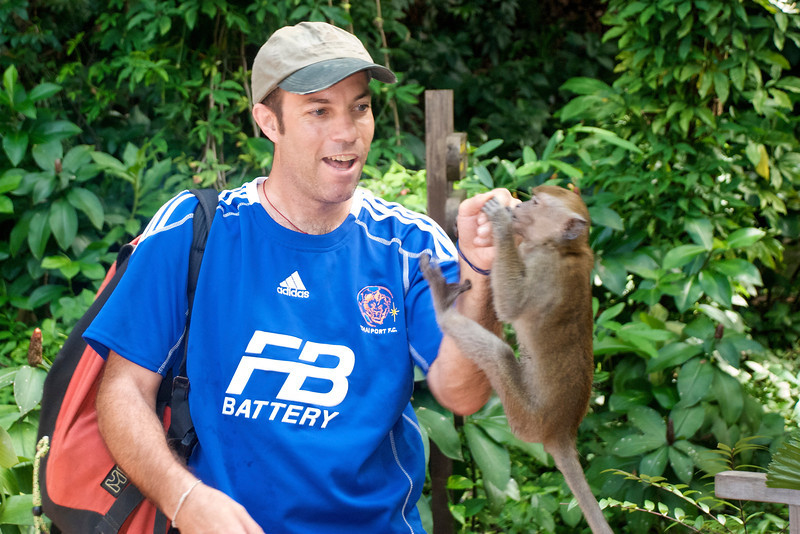 When someone hands you a monkey, you take the monkey!<br /> <br /> Bukit Nanas Forest Preserve<br /> Kuala Lumpur, Malaysia