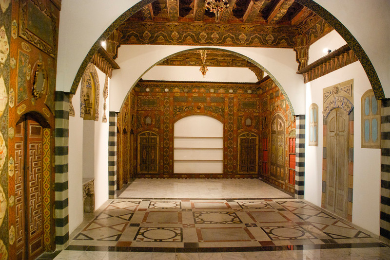 An example of the interior of an old home (I think).<br /> <br /> Islamic Arts Museum<br /> Kuala Lumpur, Malaysia