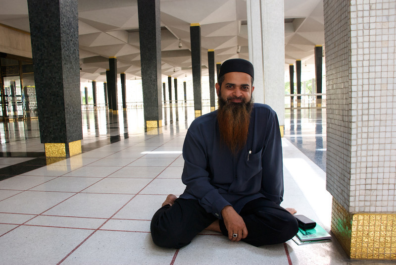 Din, the amazing docent who answered tourists' questions and then kindly sat down with me for an hour to explain and discuss the mosque and the basics of Islam.<br /> <br /> Kuala Lumpur, Malaysia