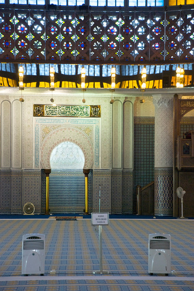 More of the interior of the National Mosque.<br /> <br /> Kuala Lumpur, Malaysia