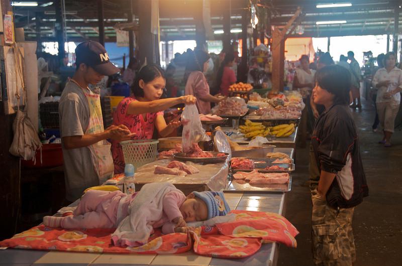 The market.<br /> <br /> Sangklaburi, Thailand