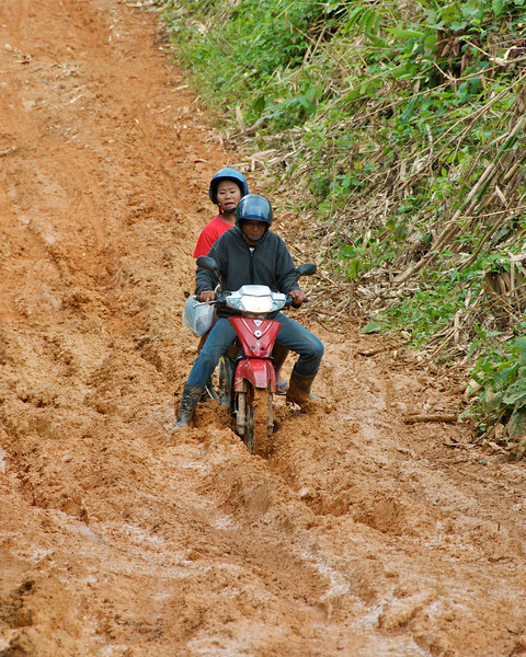 ...and here's where the road turned bad, though not its worst.<br /> <br /> Laiwo, Thailand