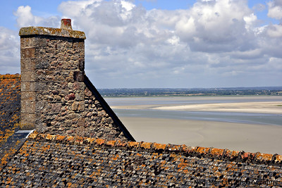 Mont Saint Michel view.