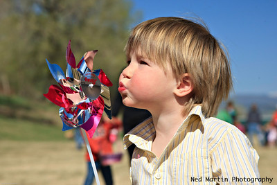 Blowing the Pinwheel