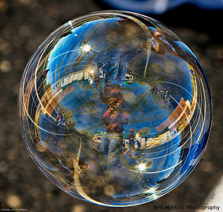 Self Portrait of the Photographer in a soap bubble