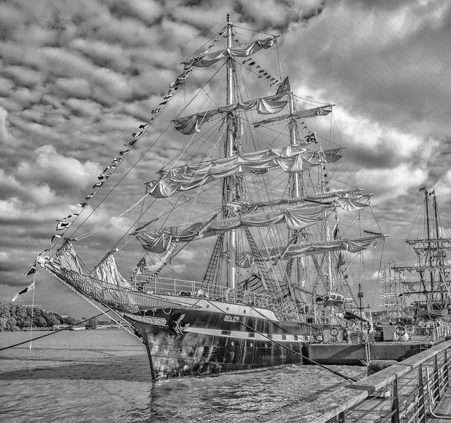 Tall Ship Belem at the quai in Bordeaux
