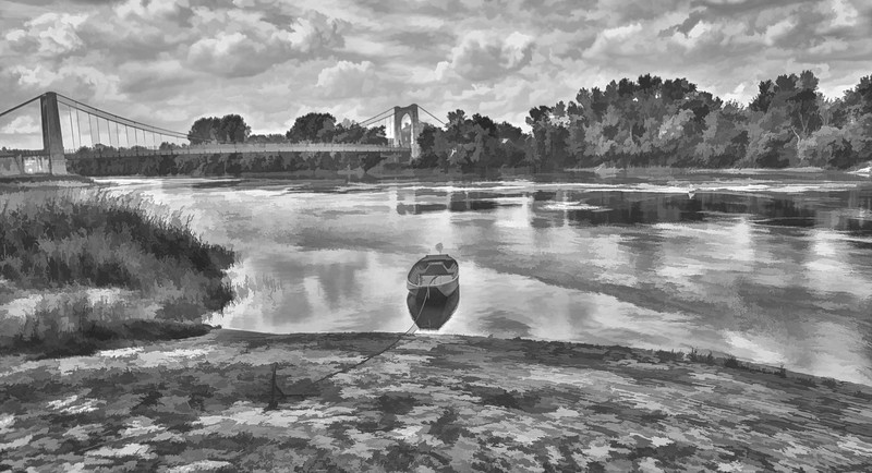 The Loire River at Saumur