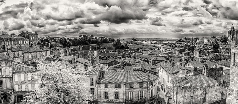 St Emilion from the Belltower square