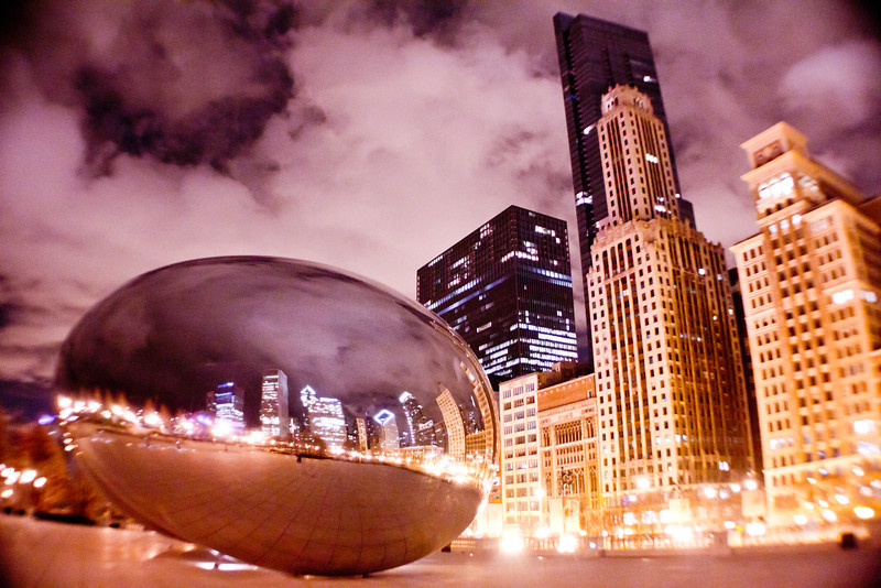 The Bean, Chicago IL. April 5, 2011<br /> <br /> I went back to April for this weeks Photo of the Week. The Bean in Millennium Park is always a great place to spend time while in Chicago. Like a lot of Cityscapes I like to shoot there late night or early morning when there are not many people around. This night there was almost no one downtown. This is another long exposure capture.