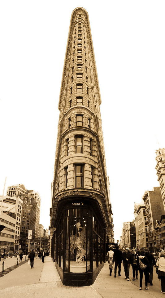 Flatiron Building - NYC 2012 <br /> <br /> This is one of the most photographed buildings in NYC and here is my vision of it.