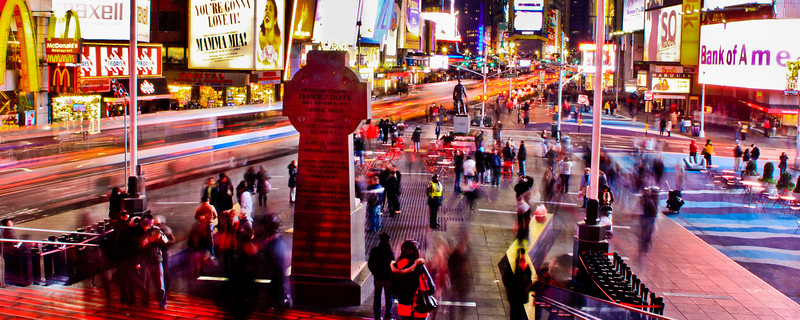 Times Square NYC<br /> <br /> This week I went back to a photo I captured in Dec 2010. I spent about 3 hours shooting in the Square, this was taken at about midnight.