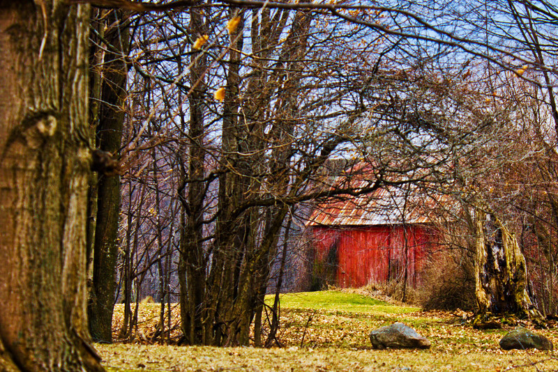 Caro Mi 3.15.12<br /> <br /> On my way to work in Caro that morning I saw this barn and a shot I thought I was going to take. After work I came back to the spot, but the shot wasn't what I was looking for, so I drove down the dirt road and still didn't find my shot. Then I turned around and came across this angle.