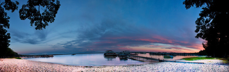 Higgins Lake MI 8.18.12<br /> <br /> Panoramic photo from the Austin Cottage beach.