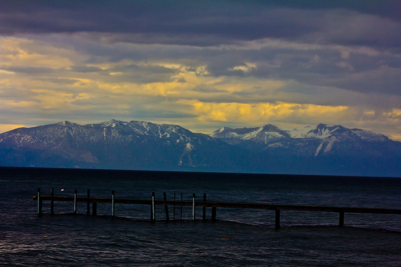 Lake Tahoe June 2011<br /> <br /> On this day I decided to drive all away around Lake Tahoe and see what I could capture. This was taken on the north side of the Lake. There was a storm coming in and I looked to my right and saw this image. I turned around my car, get out in the rain and this is what I captured. What a beautiful area. I hope to get beck there soon, I only started to scratch the surface of that area.