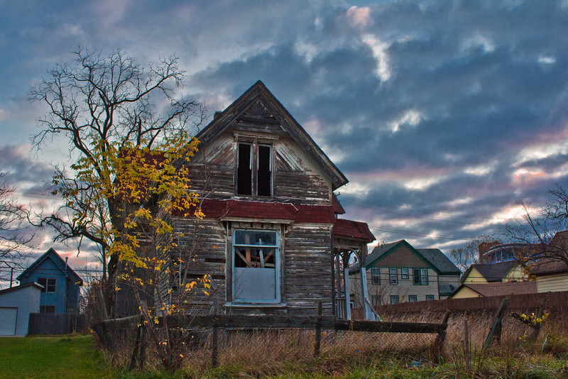 Detroit Abandoned House at Sunrise 11.6.12