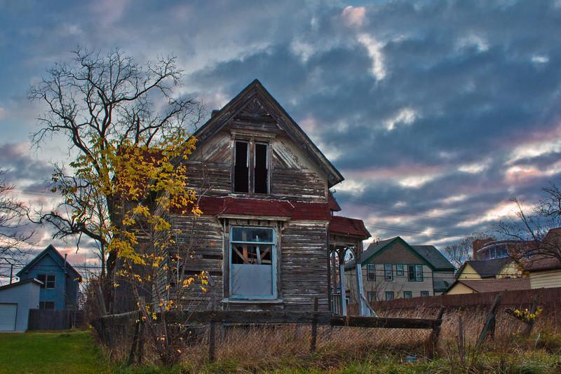 Detroit Abandoned House at Sunrise 11.6.12