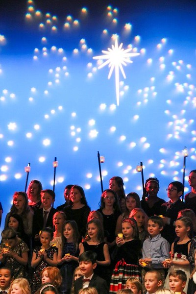 The annual Lower School Holiday Concert on Dec. 15 featured carols, dancing, dragons, percussion, and holiday cheer!