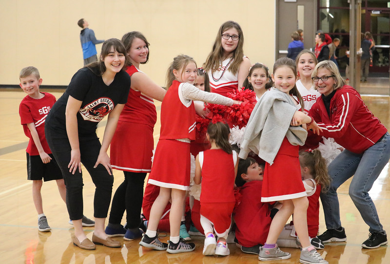 """The Little Dragon Cheerleaders were a big part of the Lower School Basketball Night on Jan. 12 in the ESAC Gym.  After a chili feed and time to decorate signs, they practiced their dance number and then performed during both the girls and boys varsity basketball games.  See more photos of their busy evening at <a href=""""https://saintgeorges.smugmug.com/Athletics/LS-Little-Dragon-Cheerleaders-1-12-19"""">https://saintgeorges.smugmug.com/Athletics/LS-Little-Dragon-Cheerleaders-1-12-19</a>"""