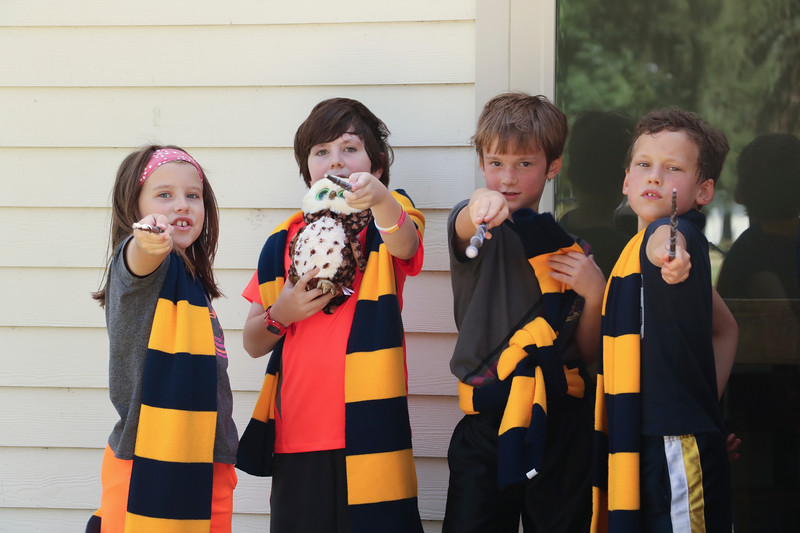 "Beware of spell-casting wizards!  Saint George's hosted ""Hogwarts Americana"" for a week this summer, where kids explored the world of Harry Potter by learning spells, playing Quidditch in Metters Gym, and  exploring all things magical."