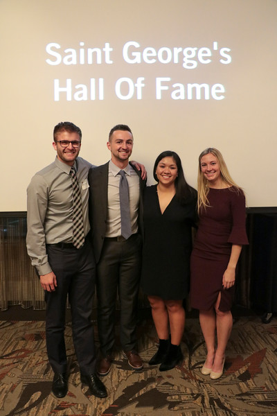 "Four members of the Class of 2010 -- Jordan Dickson, Gerhard Muelheims, Chessey Thomas, and Alicia Burns -- were among 12 individuals, 2 teams and 2 supporters inducted into the SGS Athletic Hall of Fame on Dec. 30, 2017.  See more photos from the event at <a href=""https://saintgeorges.smugmug.com/Athletics/Athletic-Hall-of-Fame-12-30-17/"">https://saintgeorges.smugmug.com/Athletics/Athletic-Hall-of-Fame-12-30-17/</a>"