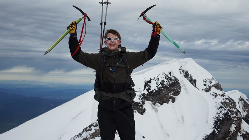 Hunter Hyde declared victory on the snowy summit of Mt. St. Helens in June when the SGS Outdoor Club climbed that Cascade volcano and nearly made it up nearby Mt. Adams as well.