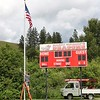 Thanks to graduating senior Hunter Hyde and his dad who erected this new flagpole by the scoreboard at the corner of the baseball/soccer field.  It was a CAS (Creativity, Action, Service) project for Hunter as part of earning his IB Diploma.  Here the flag is being raised for the first time on June 16, just two days after Flag Day.