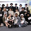 Dressed like immigrants from a century ago, the fifth graders discovered the historic challenges of becoming an American citizen.