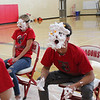 """The Spirit Week Pep Rally on Oct. 5 featured a competition to see who could catch the most orange puff balls with a face covered in shaving cream!  These Dragons were game for it!  See more photos from the pep rally at <a href=""""https://saintgeorges.smugmug.com/Community/Spirit-Week-Pep-Rally-10-5-18/"""">https://saintgeorges.smugmug.com/Community/Spirit-Week-Pep-Rally-10-5-18/</a>"""