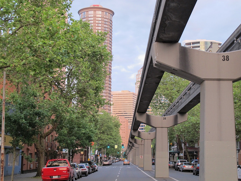 Thursday, June 16, 2011. The Seattle downtown monorail to nowhere.