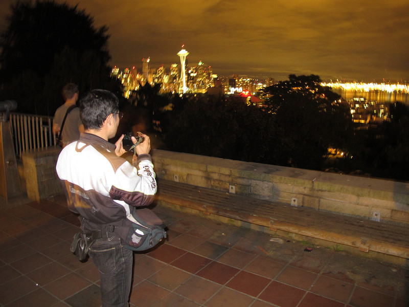 Friday, July 15, 2011. My old friend. Katsutoshi, arrived on Friday before heading down to L.A., and then on back to Japan. I showed him some if the sights of Seattle while he sobered up a bit after a couple of beers.