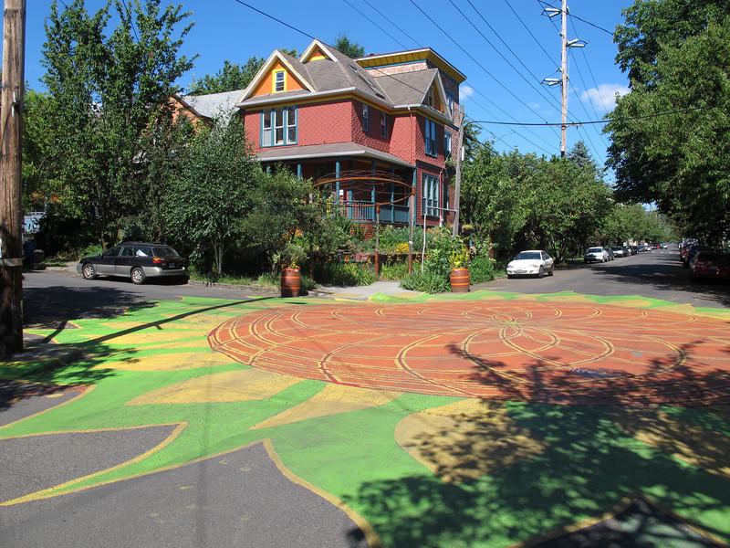 Sunday, July 3, 2011. Street-block art in Portland, Oregon.