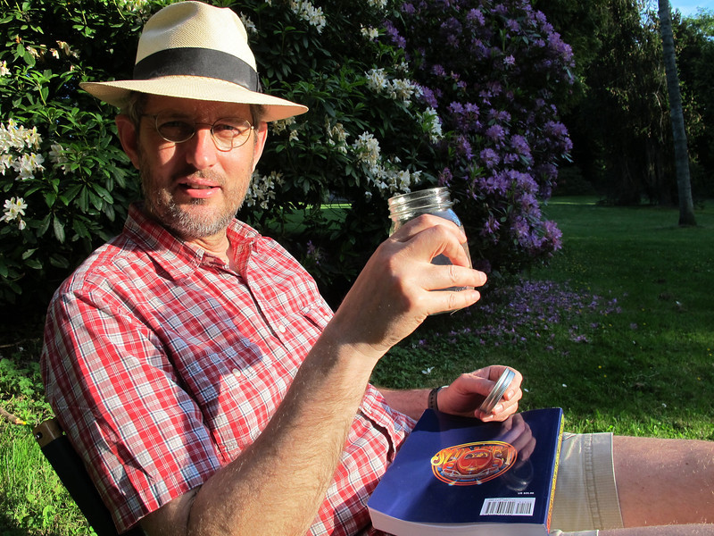 Tuesday, June 21, 2011. Enjoying sundowners on the langest day of the year in Volunteer Park.