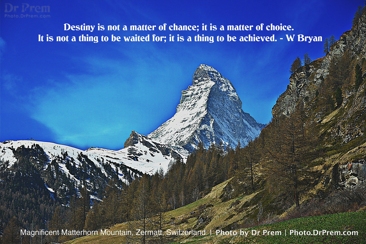 Achieve your destiny - Photoquote - Dr Prem