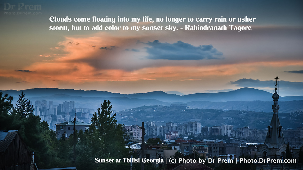 Color to my Sunset Sky - Photoquote - Dr Prem