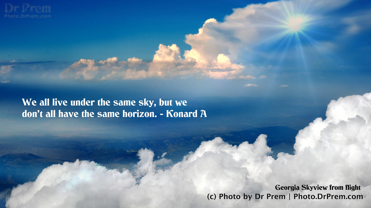 Our Horizon - Photoquote - Dr Prem