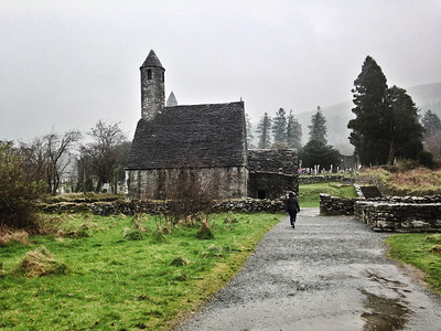 St Kevin's Kitchen, Glendalough, County Wicklow, Ireland