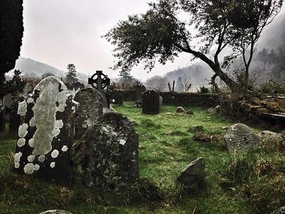 St Kevin's Cross, Glendalough, County Wicklow, Ireland