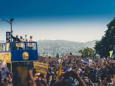 Klay Thompson, Golden State Warriors Parade, Oakland, CA