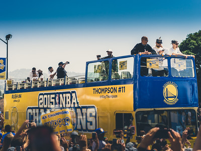 Klay Thompson, Golden State Warriors Parade, Oakland, CA