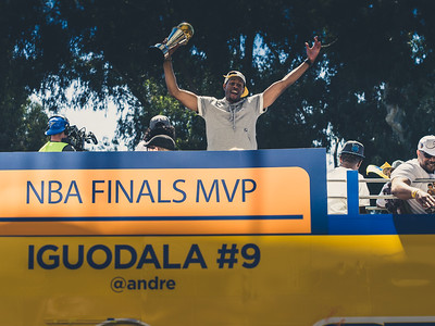 Andre Iguodala, Golden State Warriors Parade, Oakland, CA