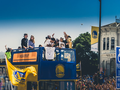 Steph Curry, Golden State Warriors Parade, Oakland, CA