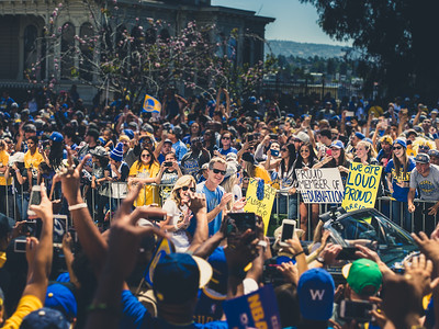 Steve Kerr, Golden State Warriors Parade, Oakland, CA